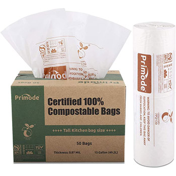 Primode 100% Compostable Bags box
