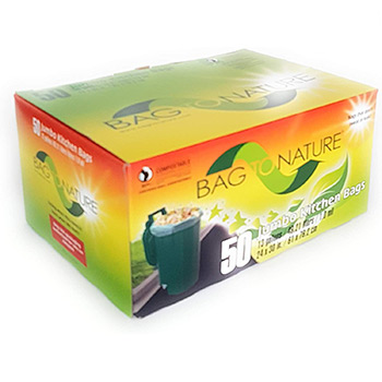 BAG-TO NATURE Compostable Tall Kitchen Bags box
