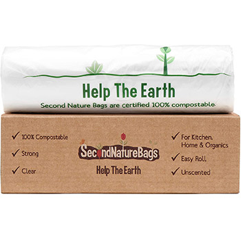 Second Nature Bags, Premium Certified 100 Percent Compostable box
