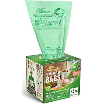 UNNI 100 Percent Compostable Trash Bags box