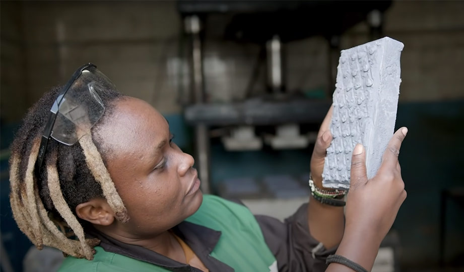 Featured image for Kenyan Materials Engineer Invents Recycled Plastic Brick Stronger Than Concrete article