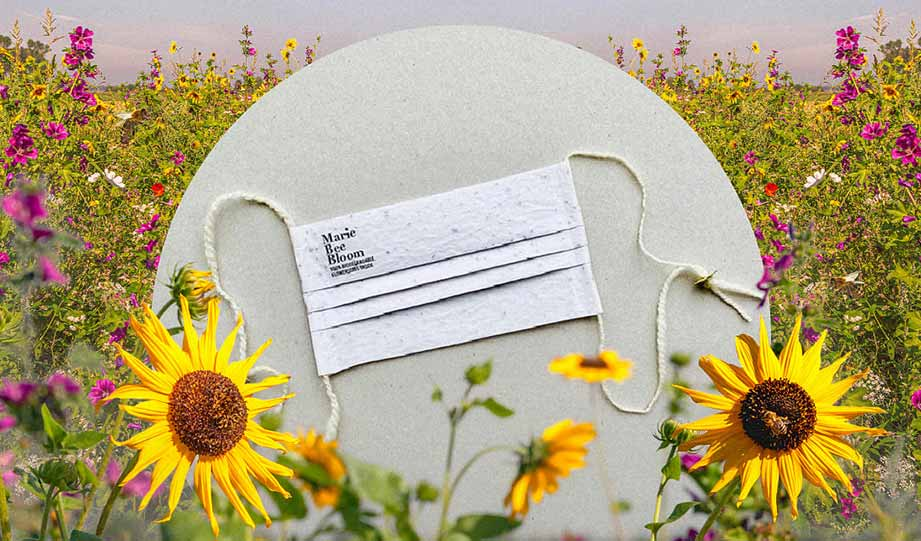 Featured image for Marie Bee Bloom Takes Compostable Face Masks To a New Level article