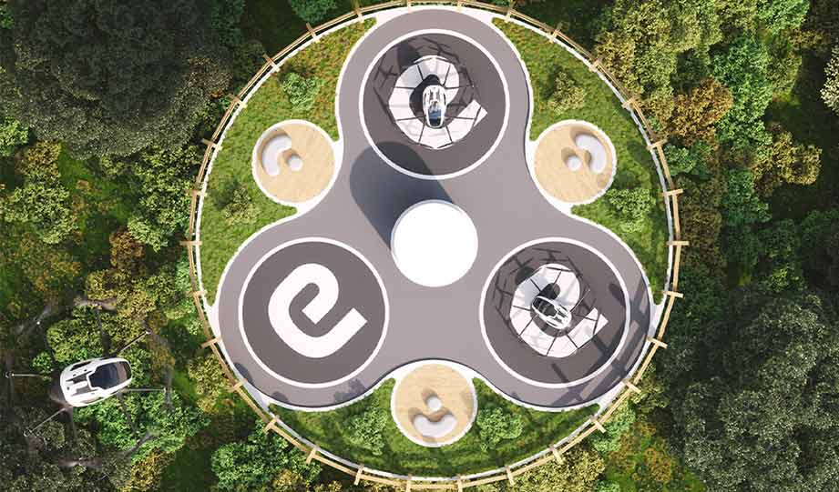Featured image for Sustainable Solar Powered 'Vertiport' Will Feature Air Taxis To Boost Eco Tourism article