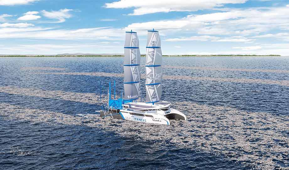 Featured image for French Ocean Adventurer Designs Sailboat That Feeds on Plastic article