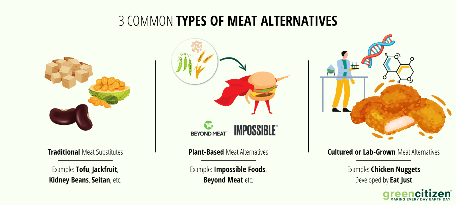 types of meat alternatives