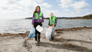 Volunteers and Charities Clean Up Marseille Beaches